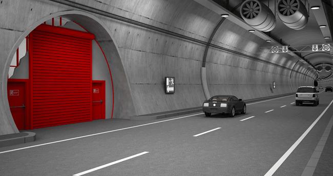 Tünel Enine Geçiş Kepenkleri ve Pasif Yangın Sistemleri